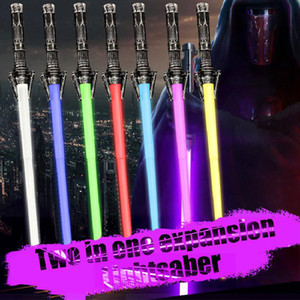 Wholesale lightsaber toys resale online - 2 in telescopic lightsaber lightsaber colorful LED Sword weapons props bar party wars lightsaber toys for kids and adults cosplay go