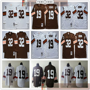 Wholesale best jerseys football for sale - Group buy NCAA Football Retro Vintage Bernie Kosar Jersey White Sewn Jim Brown Jerseys Best Quality Men Long Sleeves Jersey Shirt