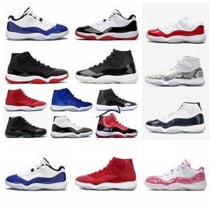ténis c  venda por atacado-25 Aniversário s aj11 s Concord Bred High Space Jam Mens Womens Basketball Shoes Cap Gown Gamma Blue Jumpman Sneakers Trainers ad55