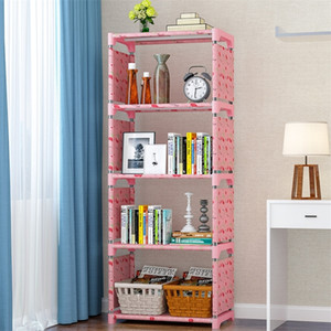 Wholesale book shelves for sale - Group buy 5 Shelf Bookcase Book Shelves Shelf Bookshelf Storage Bin Books Display Shelving Unit Organizer Shelf Storage Shelves Rack Y200429