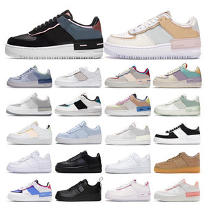 corte los zapatos al por mayor-force Classic Black White Dunk Women Casual Shoes red one Skateboard High Low Cut Entrenadores deportivos Wheaters tamaño