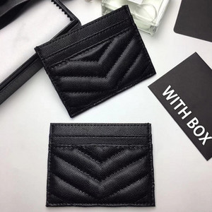 Wholesale pink credit cards resale online - New Top quality Men Classic Casual Credit Card Holders cowhide Leather Ultra Slim Wallet Packet Bag For Mans Women cm