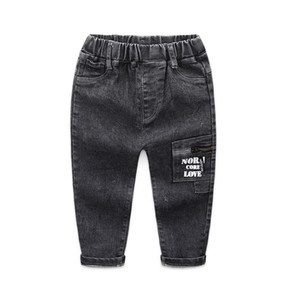Wholesale boy jeans for sale - Group buy KEAIYOUHUO Autumn Winter Skinny Jeans Children Boy Cowboy Trousers Dark Color Denim Long Pants Kids Baby Boy Strech Jeans J1205
