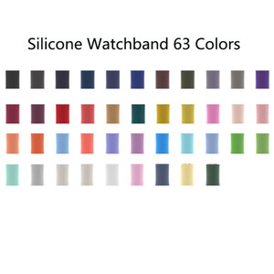 Wholesale watches silicone colors for sale - Group buy 63 Colors Silicone Watchband Loop Sport Watch Bands Replacement Strap iWatch Accessories for Apple Watch Series
