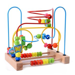 Wholesale wooden toys bead maze resale online - ABWE Best Sale MWZ Wooden Baby Toddler Toys Circle First Bead Maze for Boys Girls C0119