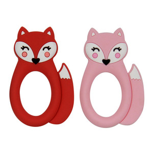 Wholesale sensory baby toys resale online - Fox Baby Teether Silicone Teething Toy Animal Soothers Baby Molar Training Silicone Beads BPA Free Sensory Baby Chew Teethers DHE4575