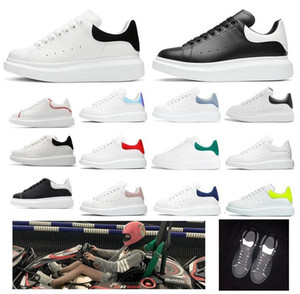 zapatos de colores al por mayor-alexander mcqueens sneakers men women baskets flats mcqueen mqueen espadrille espadrilles oversized sneakers platform shoes