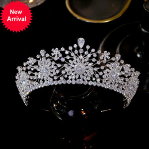 Wholesale quality pageant crowns resale online - ASNORA Luxurious wedding headdress high quality zircon CZ bridal Tiara queen princess beauty pageant party crown bridesmaid