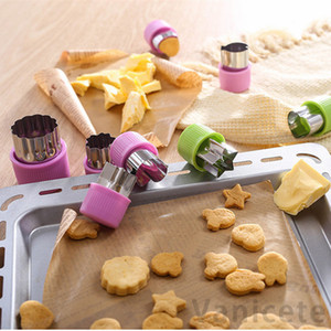 Wholesale decorative cookies resale online - Animal Star Molds Vegetable Cutter Shapes Set Stainless Steel Cookie Cutters Molds For Decorative Fruit Cookie Baking Tools set T1I3393