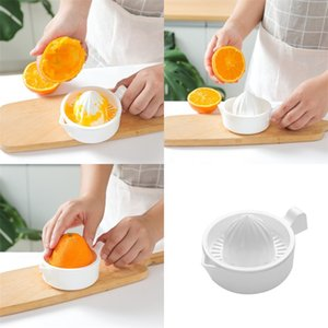 Wholesale kitchen tools resale online - Lemon Orange Juicer Fruit Vegetable Manual Squeezer Durable White Kitchen Tools Family Practical Juicers Factory Direct hr F2