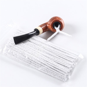 Wholesale pipe clean resale online - Smoking Pipes Cleaning Brushes Prevent Blocking Strip Brush Non Shed Hair Metal Flexible cm Length Clean Tool pn N2