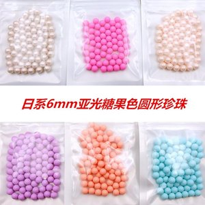 Wholesale nail art pearl stickers resale online - 10Pcs New mm Candy Color Round Pearl Metal Alloy Nail Art Decorations D Nail Stickers tools for Manicure