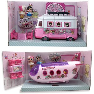 Wholesale lol dolls resale online - LOL Surprise Original House Dolls Airplane Toys Anime Figures Plane Model Collection DIY toy girl Birthday Gifts