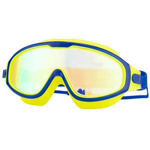 Wholesale swimming goggles for kids resale online - 2Pcs Set Swim Goggles for Kids Anti Fog UV Protection Clear Wide Vision Swim Glasses With Earplug for Years children SY5031