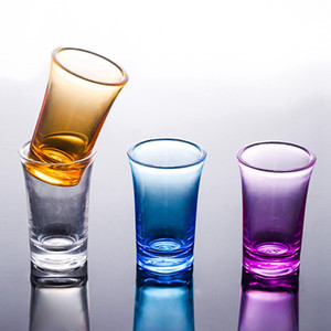Wholesale game glasses for sale - Group buy Shot Glass Cup ml Acrylic Party KTV Wedding Game Cup Whiskey Wine Vodka Bar Club Beer Wine Glass Gift LLA97