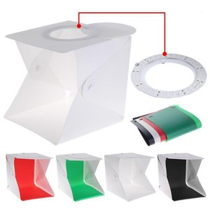 Wholesale light boxes resale online - 1Set Portable Shooting Light Box Foldable Mini Photo Lightbox Tent Dimmable Tabletop Photography Softbox Kit with Colors1