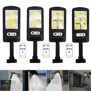 COB Solar Lights Remote Control PIR Motion Sensor LED Solar street lamp outdoor Waterproof Spotlight Garden Wall light