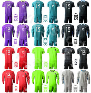 Wholesale custom kids shirts resale online - Kids Mexico Long Sleeve Goalkeeper Guillermo Ochoa Youth CORONA Jersey Set GK Soccer BLANCO Jorge Campos Football Shirt Kits Custom Name