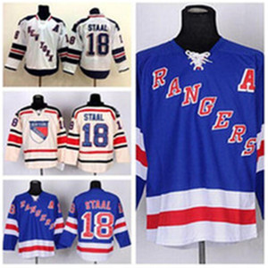 Wholesale best classic hockey jerseys resale online - 2016 Customize Marc Staal Jersey New York Stadium Series Hockey Jerseys Ice Winter Classic Home Blue Beige White Best Qual