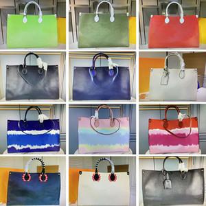 Onthego large capacity totes fashion sac femme leather designers shoulder bags woman handbag duplex print toron handle lady shopping bag for women purse