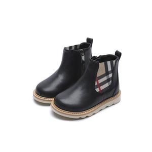 2020 New Arrival Autumn Winter Leather kids Girls Boys Boots Soft Light Weight Non-slip Martin Boots For Children