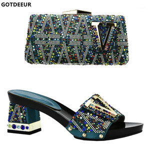 Wholesale african shoes and bags set for sale - Group buy New African Matching Shoes and Bag Italian In Women Shoe and Bag Set for Party In Women Nigerian Wedding Shoes Sets1