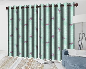 Wholesale curtains designs for living room for sale - Group buy 3d Curtain Design for Bedroom Forest Spirit Deer Curtain Living Room Bedroom Beautifully Decorated d Animal Curtain