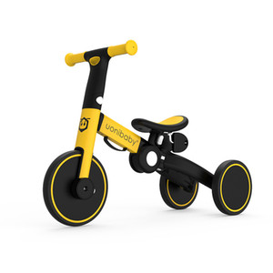 Wholesale pedal single resale online - uonibaby into Baby Balance Bike Kids Stroller Trolley Pedal Tricycle Two Wheel Children Bicycle