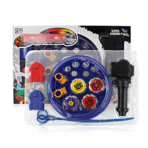 Wholesale beyblade toys arena for sale - Group buy 4pcs set Beyblade arena stadium Metal Fusion D Battle Metal Top Fury Masters launcher grip children christmas toy Y1205