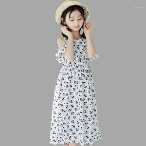 Wholesale beach costume for kids resale online - Kids Dresses For Girls Summer Beach Child Dress Floral Off Shoulder Kids Dress Cotton Long Costume Girl Years1