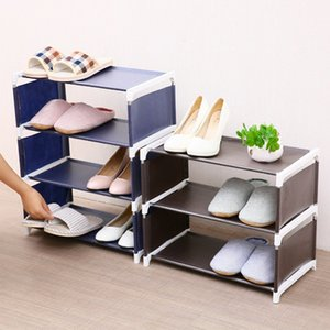 Wholesale large size designer shoes for sale - Group buy 4 Layers Non woven Shoe Rack Large Size Living Room Fabric Dustproof Cabinet Organizer Holder DIY Foldable Stand Shoes Shelf Y1128