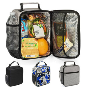 Wholesale designer bags resale online - Local stock Thermal Insulated Lunch Bag Cool Bag Picnic Adult Kids Food Storage Lunch Box GWE3481