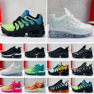 zapatillas deportivas para niños al por mayor-Plus TN toddler kids tn Transpirable Rainbow Mesh Running Sneakers tns Air Cushion children pour enfants Deportes atléticos Zapatos más entrenadores