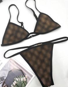 20ss Italian Bikini Spring Summer new Sleepwear underwear double letters Womens Swimwear tops high quality Bikini rainbow