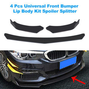 Wholesale front bumper splitter for sale - Group buy 4 Pieces Car Front Bumper Lip Body Kit Spoiler Splitter ABS Bumper Canard Lip Splitter Universal For Tesla Model Sedan