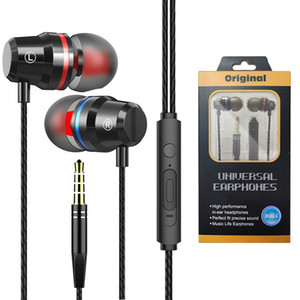 Wholesale tablets call for sale - Group buy Metal Wired Earphones Super Bass Subwoofer Earphone mm Sport Earphone for Phone Tablet PC Computer with Microphone Handsfree Phone Call