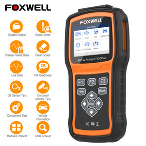 auto auto data software großhandel-Foxwell NT630 Elite OBD2 Scanner OBD ABS Airbag SRS SAS Crash Data Reset Auto ODB2 Car Diagnostic Tool OBD Automotive Scanner