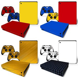 Wholesale xbox one consoles resale online - New items removable vinyl pattern skins game sticker for xbox one x Console Y1201