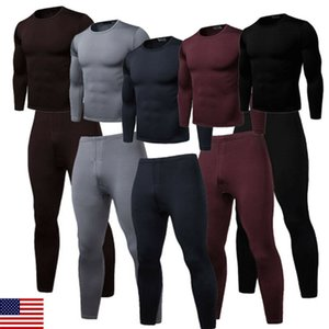 Long Winter Johns Thick Men Thermal Underwear Sets Keep Warm for Russian Canada and European