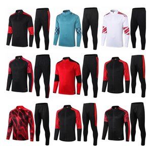 Wholesale green top for sale - Group buy Top quality AC Milan adult Soccer training suit survetement AC Milan HIGUAIN CALHANOGLU BONUCCI football Tracksuit