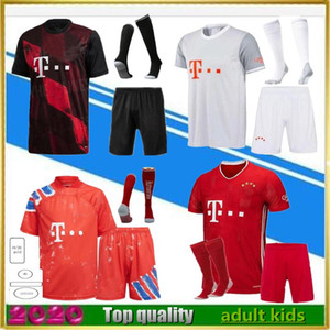 Wholesale orange football kits resale online - 20 LEWANDOWSKI soccer Jerseys kits maillots de footbal SANÉ KIMMICH HERNÁNDEZ third football shirt kit uniforms