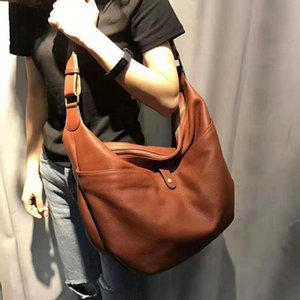 Wholesale korean large bags fashion lady resale online - Woman Soft Cowhide Shoulder Bags Fashion Large Genuine Leather Tote Ladies Korean Design Casual Messenger Bag Feminina Handbags C0121