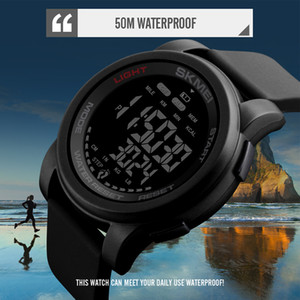 Wholesale skmei electronic watch resale online - Brand Men Watch Luxury Calorie Pedometer Sport Wristwatch Waterproof Luminous Electronic Bracelet Men s Military Watches SKMEI