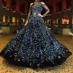 2021 New stage dress girl Evening Dress Wear Women Elegant Party Gowns Lange Jurk Bronzing Sexy Dress Trailing Dinner