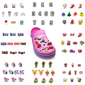 Wholesale brown shoes for children for sale - Group buy moq Optional shoe charms jibitz for croc PVC charms accessories promotional gift for children