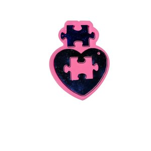 Wholesale puzzles for free resale online - DIY Silicone Mold Heart Puzzle Keychain Silicone Mold for DIY Cake Decoration Resin Gumpaste Fondant Sugar Craft Molds Free ship G2
