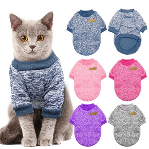 Wholesale cats clothes resale online - Warm Dog Cat Clothing Autumn Winter Pet Clothes Sweater For Small Dogs Cats Chihuahua Pug Yorkies Kitten Outfit Cat Coat jllnON