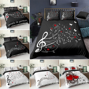 Wholesale crib set music for sale - Group buy 3D Digital Duvet Music Note Printed Beating Comforter Cover Kids Adult Bedding Set for Winter US EU AU Size