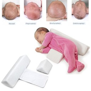 Wholesale baby flat head resale online - Baby Infant Newborn Anti Roll Pillow Sleep Positioner Safe Sleeper Prevent Flat Head Wedges Cushion white