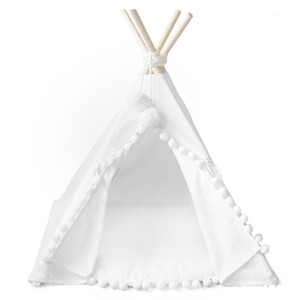 Wholesale cotton play tent resale online - Teepee Tent for Kids Foldable Children Play Tents for Girls and Boys Cotton Canvas Playhouse Toys Girl Child Indoor1